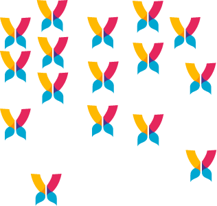 Papillons haut gauche