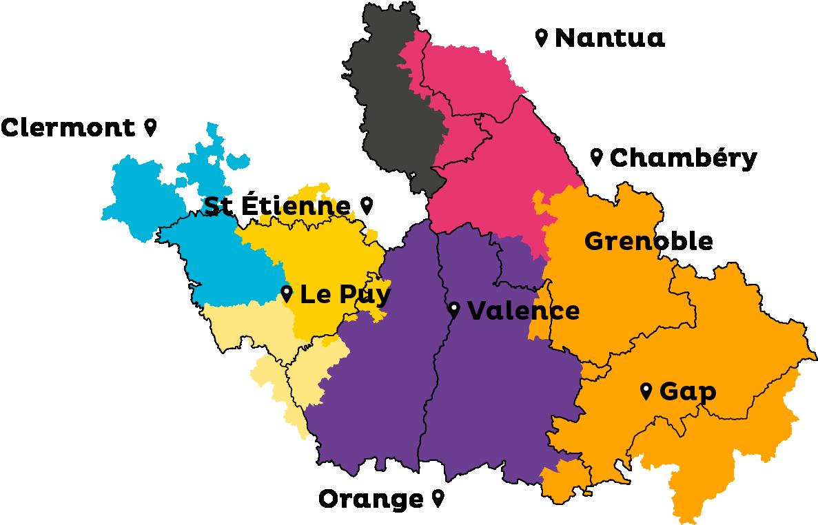 Carte des territoires